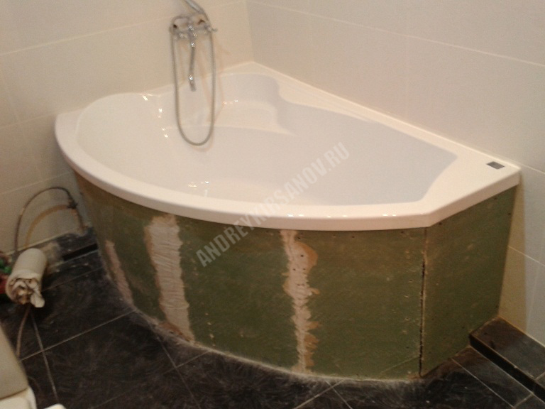 Экран для угловой акриловой ванны своими руками 61